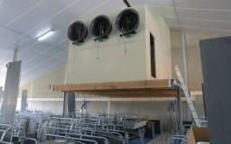 Étable avec ventilation sans conduit d'aération