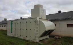 Échangeur de chaleur avec radiateurs sur poulaillers existants